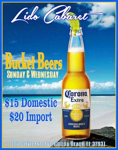 Bucket Beers: $15 Domestic, $20 Import